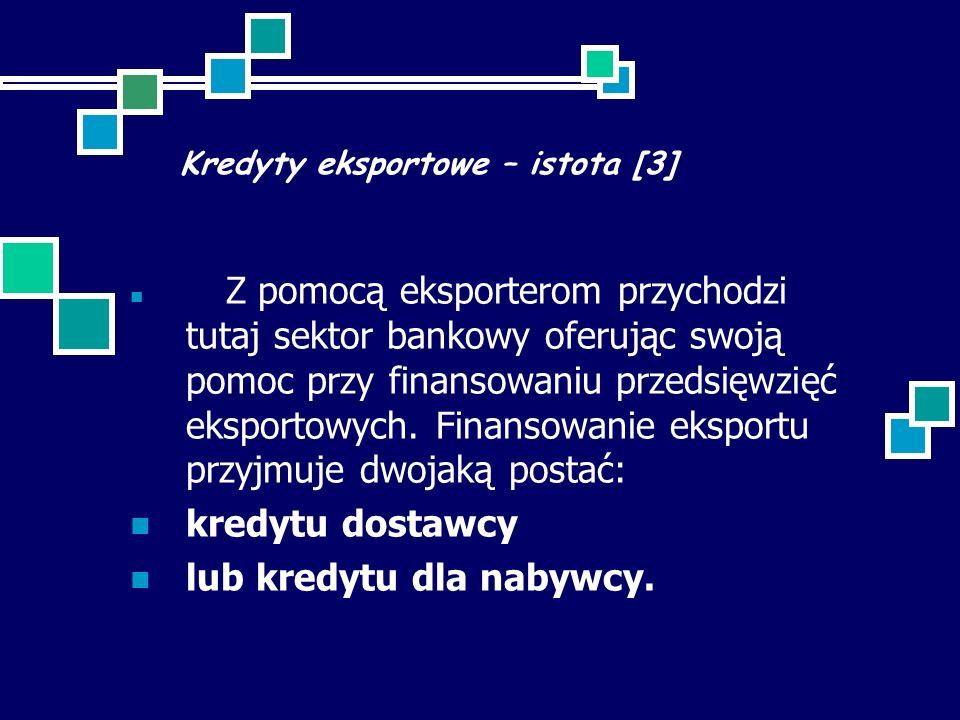 Kredyty eksportowe – istota [3]